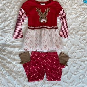 Little Lass, reindeer Christmas outfit